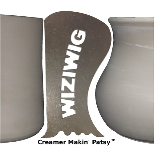 WiziWig Pottery Tools Creamer Makin Patsy  - Click to view larger image