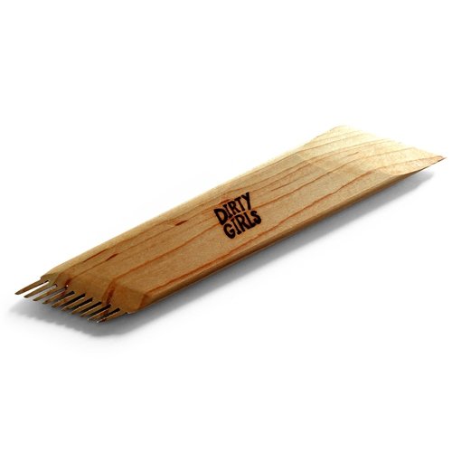 Dirty Girls Pottery Tools 45° Angled Comb Wooden Tool  - Click to view larger image
