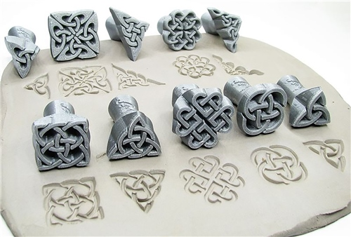 Relyef Pottery Tools Celtic Set 30mm  - Click to view larger image