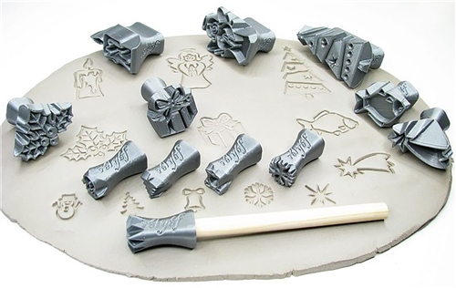 Relyef Pottery Tools Christmas Set  - Click to view larger image