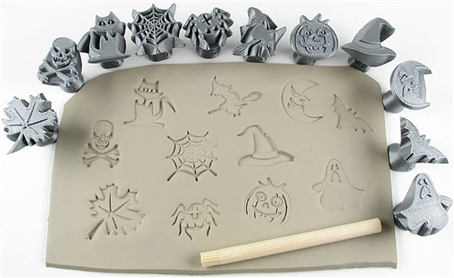 Relyef Pottery Tools Halloween Set  - Click to view larger image