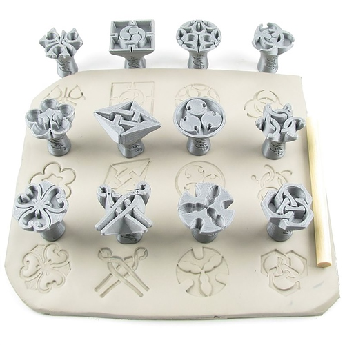 Relyef Pottery Tools Japanese Guild Symbols set 30 mm 1