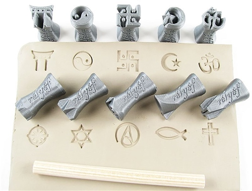 "Relyef Pottery Tools Religious Symbols 0.6"" (15mm)  - Click to view larger image"