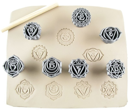 Relyef Pottery Tools Set of Chakras 1 (26mm)  - Click to view larger image