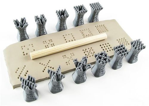 Relyef Pottery Tools Set of Dots Stamps - 15 x 15mm  - Click to view larger image