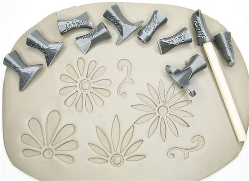 Relyef Pottery Tools Set of Flower Puzzle Set 01  - Click to view larger image