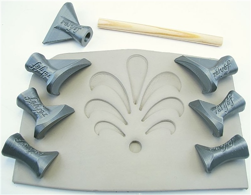 Relyef Pottery Tools Set of Flower Puzzle Set 03  - Click to view larger image