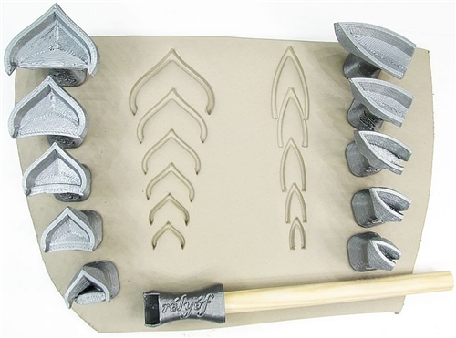 Relyef Pottery Tools Set of Mandala Outline  - Click to view larger image