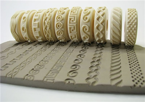 Relyef Pottery Tools Set of Embossed Waves - 10pcs  - Click to view larger image