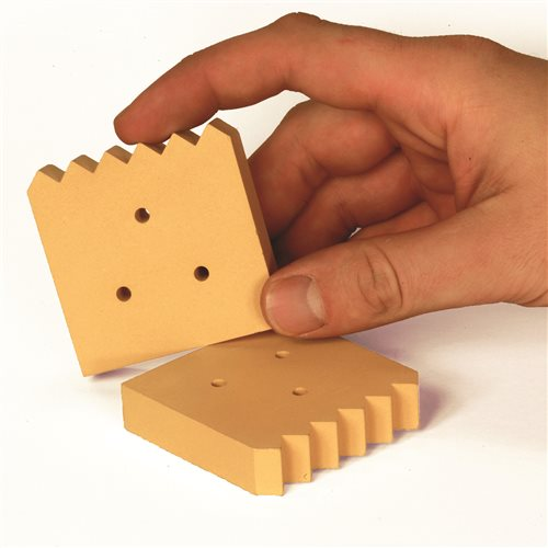 Scarva Kilns Ceramic Square Bricks- 3 holes  - Click to view larger image