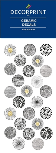 Decorprint Ceramic Decals - Black Balls  - Click to view larger image