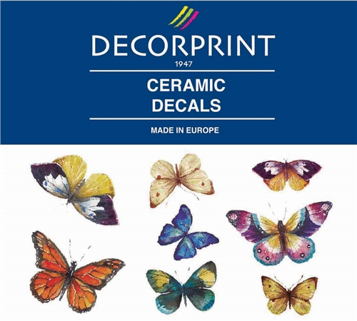 Decorprint Ceramic Decals - Butterflies  - Click to view larger image