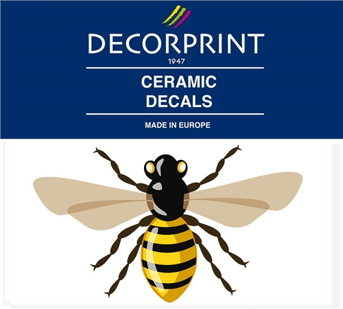 Decorprint Ceramic Decals - Buzzing Bee  - Click to view larger image