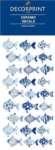 Decorprint Ceramic Decals - Fish  - Click to view larger image