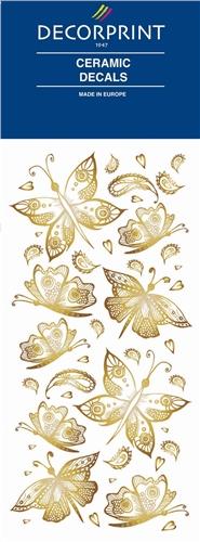 Decorprint Ceramic Decals - Golden Butterflies  - Click to view larger image