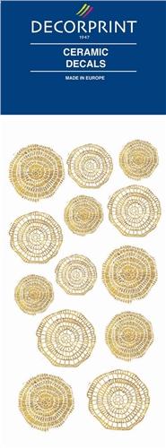 Decorprint Ceramic Decals - Golden Mosaic  - Click to view larger image