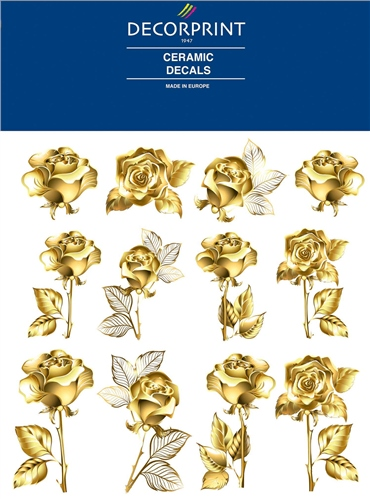 Decorprint Ceramic Decals - Golden Rose  - Click to view larger image