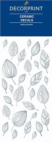 Decorprint Ceramic Decals - Platinum Leaves  - Click to view larger image