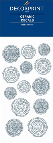 Decorprint Ceramic Decals - Silver Mosaic  - Click to view larger image