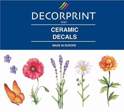 Decorprint Ceramic Decals - Wild Flowers