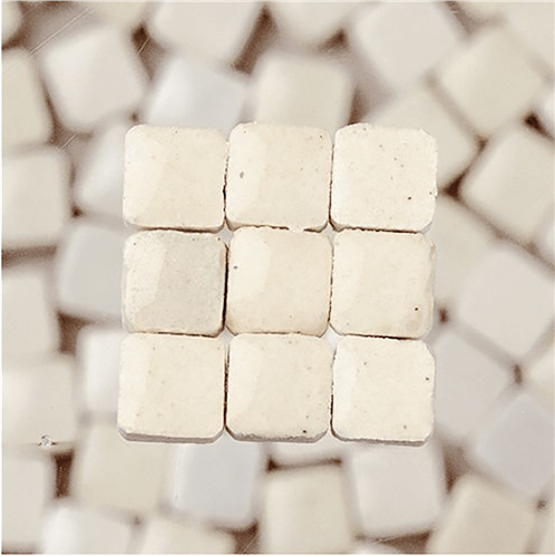 Scarva Mini Mosaic Ceramic Tiles, White, 2295601, 150-Piece  - Click to view larger image