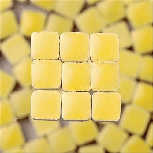 Scarva Mini Mosaic Ceramic Tiles, Light Yellow, 2295607, 150-Piece  - Click to view larger image