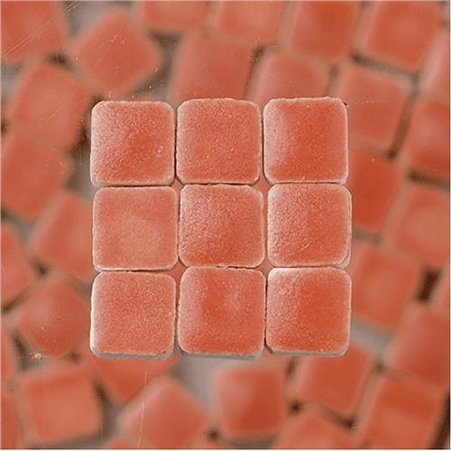 Scarva Mini Mosaic Ceramic Tiles, Salmon, 2295616, 150-Piece  - Click to view larger image