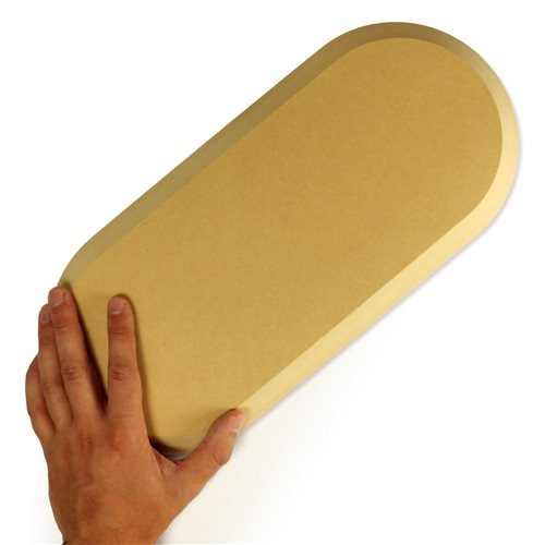 GR Pottery Forms GRP053 7.5 x 16.5 Inch Rounded Rectangle Form  - Click to view larger image