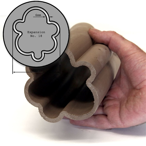 Steel Pottery Tools Expansion Box Hollow Die 18  - Click to view larger image