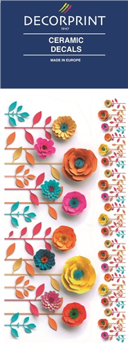 Decorprint Ceramic Decals - Paper Flower  - Click to view larger image