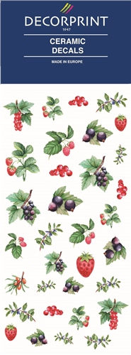 Decorprint Ceramic Decals - Watercolour Berries  - Click to view larger image
