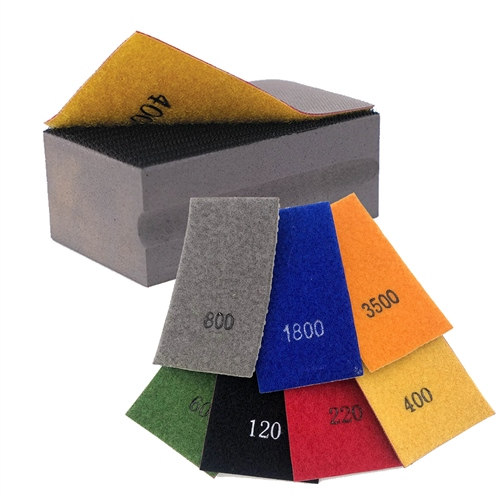 DiamondCore Tools Assortment of Flexible Sanding Pads w / FREE BLOCK  - Click to view larger image