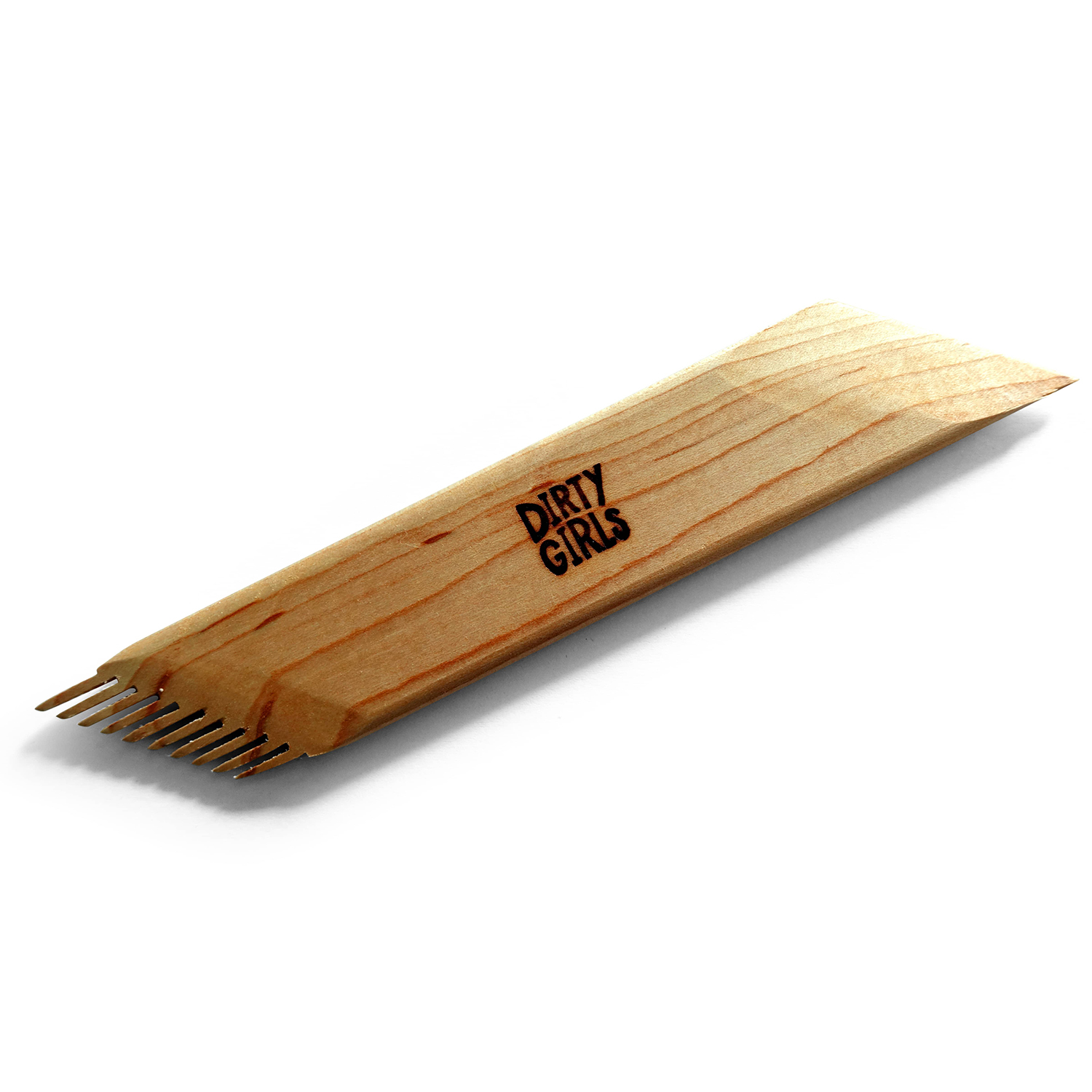 Dirty Girls Pottery Tools 45° Angled Comb Wooden Tool 1