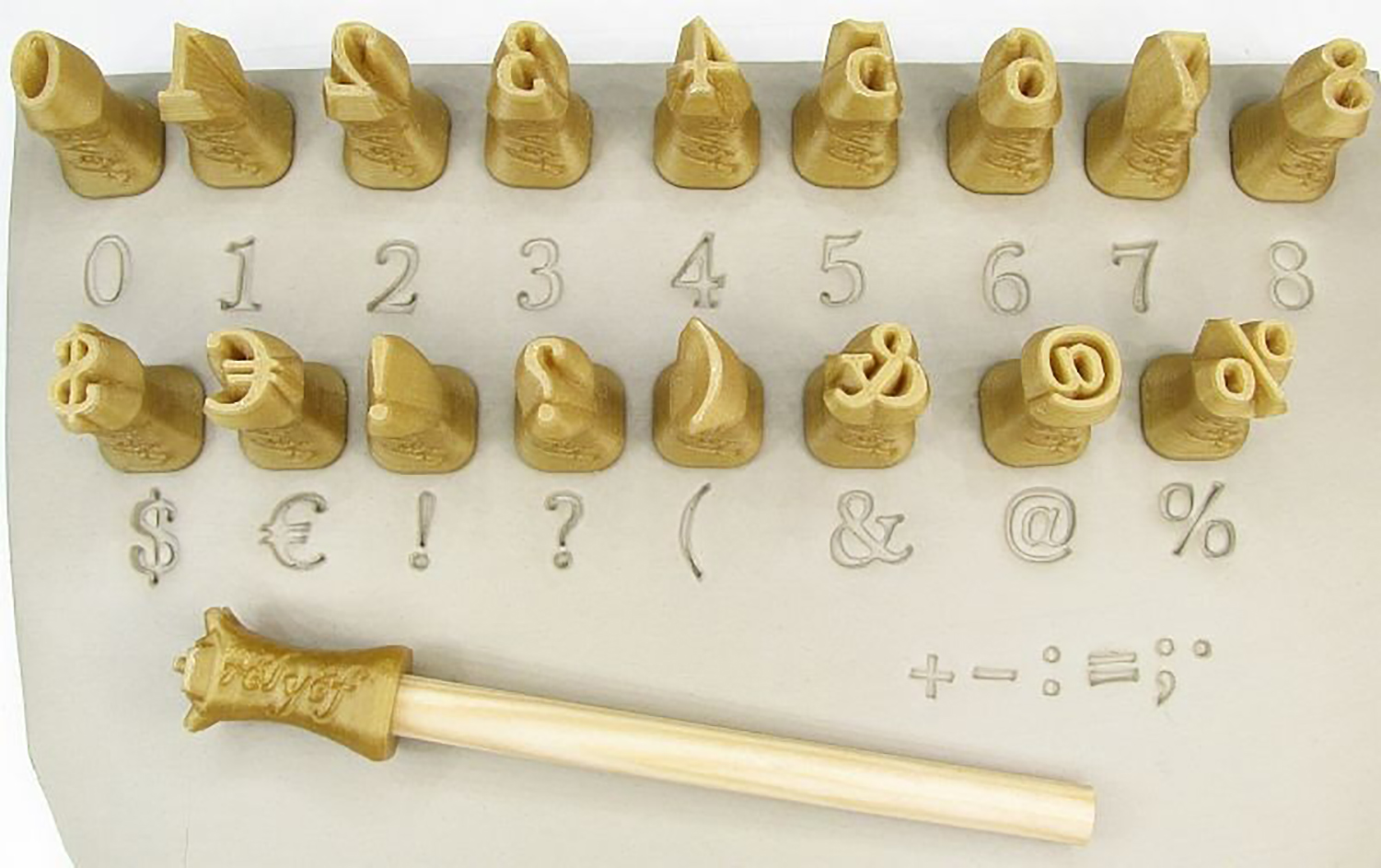 Relyef Pottery Tools Set of Marian Numerals 10mm 1